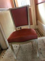 Chaise en marqueterie, style Louis XVI