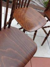 Série de 3 chaises bistrot Baumann modele Western