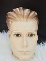 Tête mannequin résine années 50