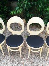 4 chaises bistrot Baumann Mouette vintage