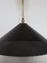 Suspension en métal perforé noir  style Mategot années 50 60