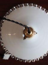 Suspension en opaline blanche  n°1