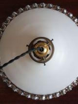 Suspension en opaline blanche  n°2