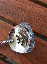 Grande Cuillère en métal argenté pour fruits à eau de vie