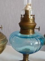 trois lampes a huile anciennes