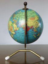 Globe terrestre mappemonde TARIDE tripode année 1965