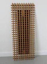 Très grand miroir en rotin bambou années 60 70