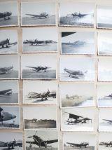 lot de 51 photos argentique avion