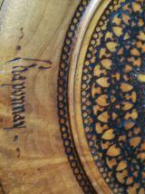 Plateau en bois du Queyras- plateau sculpté- art populaire