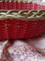 panier rotin et scoubidou-corbeille-panière à pain