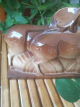 Céramique Art déco LEMANCEAU- biche et cerf-