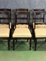 Suite de 6 chaises des années 1930 en acajou