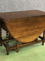 Table pliante anglaise en chêne - XIXème