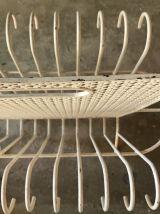 Porte-revues Mategot blanc en métal
