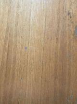 Bureau vintage avec tiroirs bois et acier