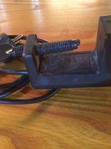Lampe de bureau à étau en métal doré Eyeball vintage