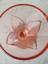 Coupes à glace de bistrot en verre rose - vintage