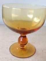 Coupes à champagne  en verre soufflé