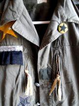 veste militaire ancienne ,customisée