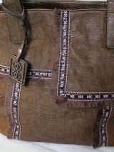 sac à main fourre tout bandoulière simili cuir indien/