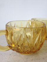 Ensemble de 9 tasses à café en verre - années 1970