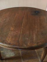 Table ronde style Louis XVI avec 3 rallonges