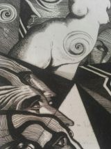 Gravure originale signée - EUREKA d'Edgar POE