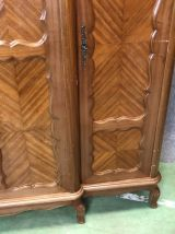 Armoire 3 portes en acajou style Louis XV années 50