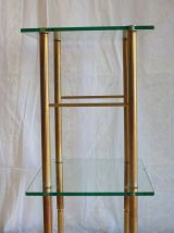Table d'appoint laiton et verre – années 50