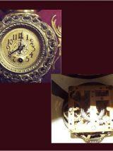 Horloge et chandeliers Art Nouveau