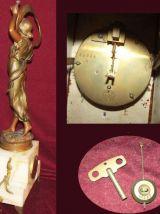Parure d'horloge bronze et régule Fleur d'Avril