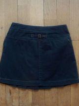 Jupe Courte En 100% Coton Noir- Taille 34- Influx