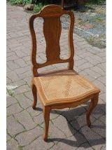 chaise fauteuil de bureau en chene assise cannée