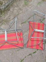 Tabouret années 50 peche camping