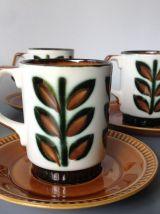 Service à thé Boch de la Louvière - Modèle Rambouillet