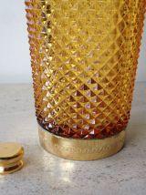 Shaker art déco en verre et métal doré