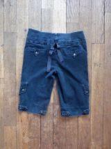 Short Genoux 97% Coton Bleu Marine- Taille 38- Biscote