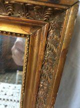 Miroir en bois style ethnique.
