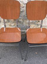 Table en formica Supermatic et ses deux chaises