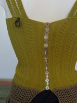 Top Vert Triple Bretelles Boutons Dans Dos-Save The Queen