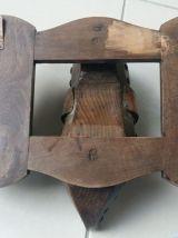 Patere en bois et cuivre