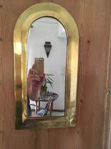 Miroir bohème  en laiton .