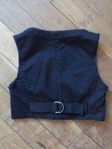 Top Court 97% Coton Noir Sans Manches- Taille 34- H&m