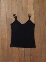 Top Double Bretelles Noir- Taille 34/36- 2elles Collection