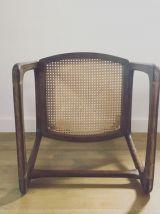 Chaise traîneau Baumann cannée