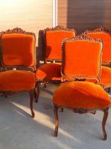lot 4 chaises   louis  XIX en noyer