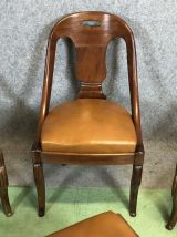 Suite de 4 chaises gondole d'époque Empire