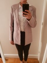 Veste/Blazer motif Prince de Galles rose