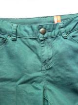 Jean pantalon skinny bleu vert canard new look