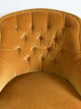 Fauteuil crapaud or